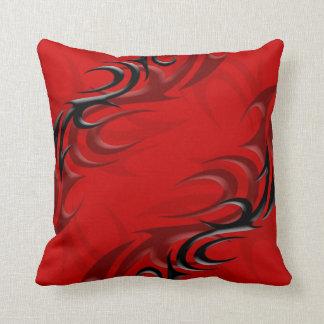 """Black on Red """"Smoke"""" Pillow"""