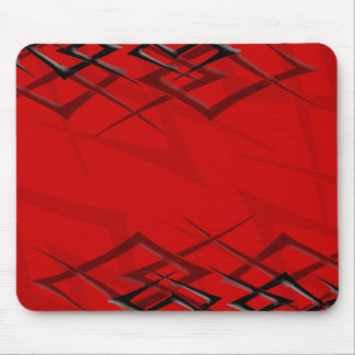 """Black on Red """"Thorn"""" Mousepad"""