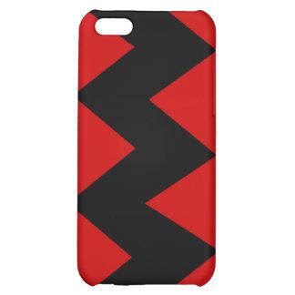 Black on Red Zig Zag iPhone 4 4S Hard Case iPhone 5C Case