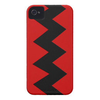 Black on Red Zig Zag iPhone 4 4S ID Case iPhone 4 Case-Mate Cases
