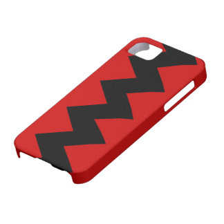 Black on Red Zig Zag iPhone 5 Barely There Case iPhone 5 Cases