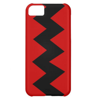 Black on Red Zig Zag iPhone 5 Barely There Case Cover For iPhone 5C