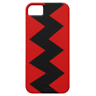 Black on Red Zig Zag iPhone 5 ID Case iPhone 5 Cover