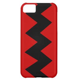 Black on Red Zig Zag iPhone 5 ID Case