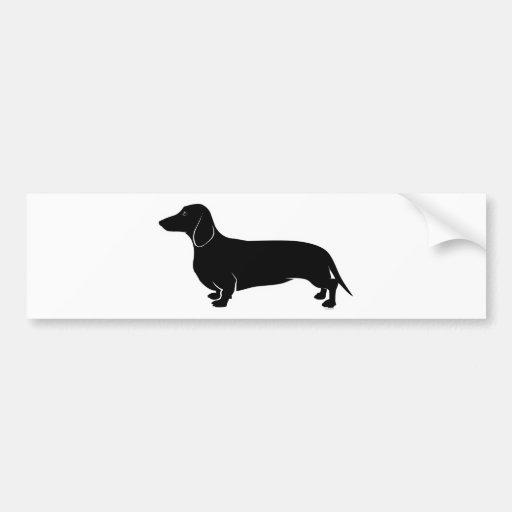 Black on White Dachsund Bumper Stickers