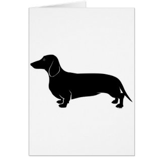 Black on White Dachsund Greeting Card