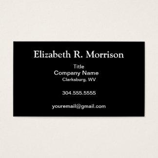 Black on White Damask Business Card