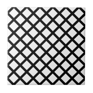 Black on White Diamond Tile