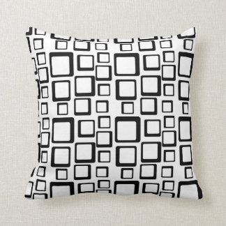 Black on White Feeling Sixties Pillow