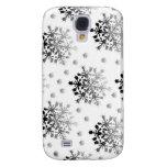 Black on White Snowflake Design Samsung Galaxy S4 Case