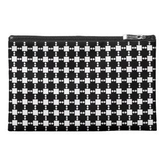 Black on White Star Travel Accessory Bag
