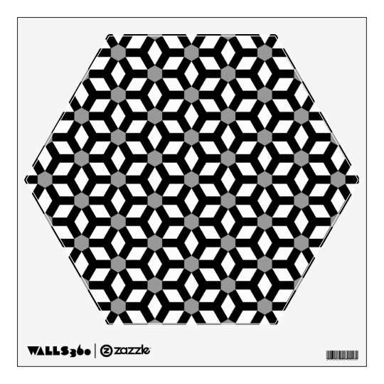 Black on White Tiled Hex Wall Decal