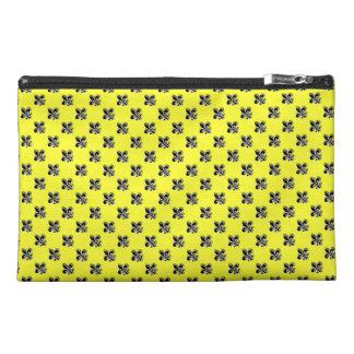 Black on Yellow Fleur de Lis- New Orleans Travel Accessory Bags