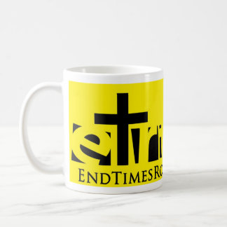 Black on Yellow Isaiah 52 Coffee Mug