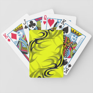 "Black on Yellow ""Smoke"" Playing Cards"
