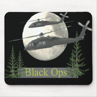 black ops military helicopter mouse pad
