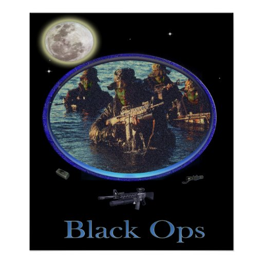 Black ops military poster