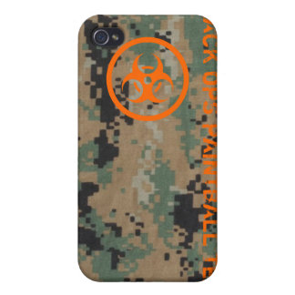 Black Ops Paintball Team Cases For iPhone 4