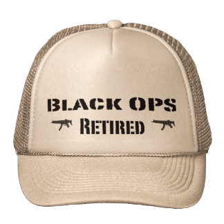 Black OPS Retired Trucker Hat