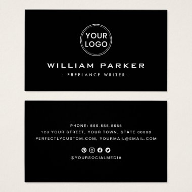 Black or any color modern business cards