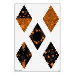 Black orange alert diamonds rhombuses shapes art room decals