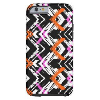 Black, Orange, And Pink Hand Drawn Arrow Pattern iPhone 6 Case