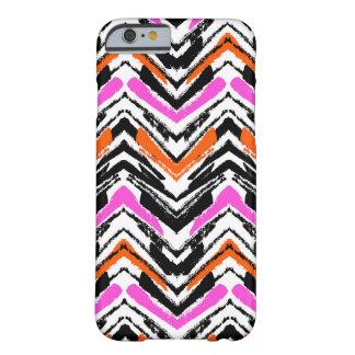 Black, Orange, And Pink Hand Drawn Chevron Pattern iPhone 6 Case