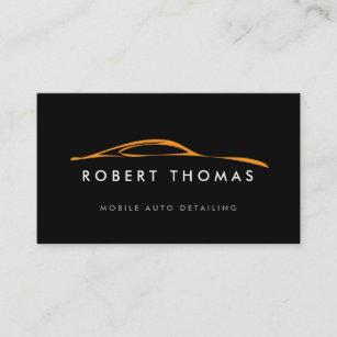blackorange auto detailing auto repair business card - Auto Repair Business Cards