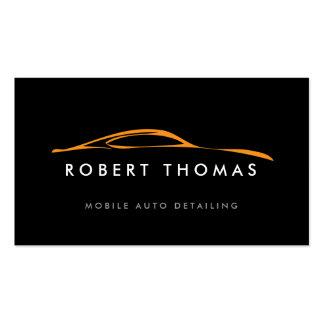 BLACK/ORANGE AUTO DETAILING, AUTO REPAIR BUSINESS CARD