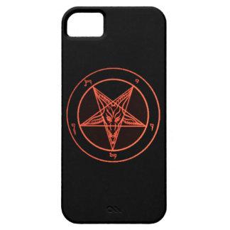Black/Orange Baphomet Phone Case iPhone 5 Case