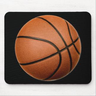 Black Orange Basketball Mouse Pad