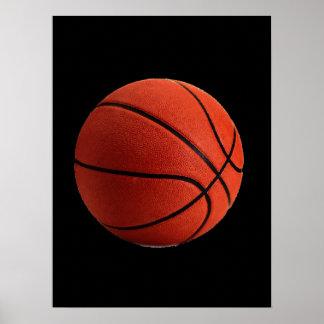 Black Orange Basketball Poster
