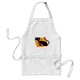 Black & Orange Cat Apron