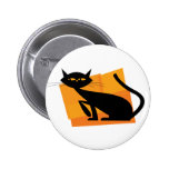 Black & Orange Cat Buttons