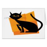 Black & Orange Cat Card