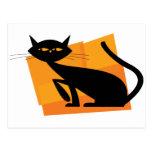 Black & Orange Cat Post Card
