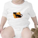 Black & Orange Cat Shirt