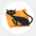 Black & Orange Cat Sticker