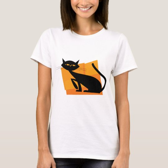 Black & Orange Cat T-Shirt