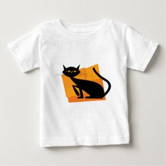 Black & Orange Cat T Shirt