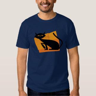 Black & Orange Cat T-shirts