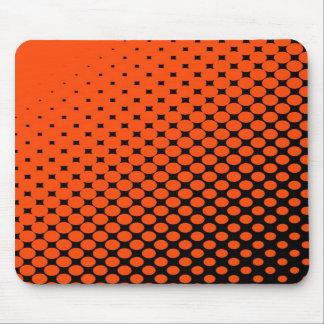 Black & Orange Dots Mousepad