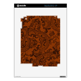 Black Orange Faux Lace Decal For The iPad 2