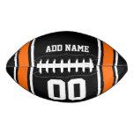 Black Orange Football Jersey Stripes