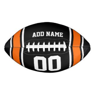 Black|Orange Football Jersey Stripes