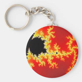 Black & Orange Fractal Keychain