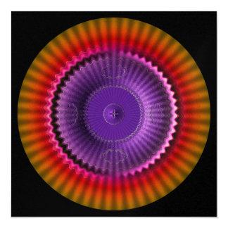 Black Orange Glow 5.25x5.25 Square Paper Invitation Card