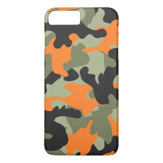 Black Orange Green Camo Camouflage Pattern Slim iPhone 7 Plus Case