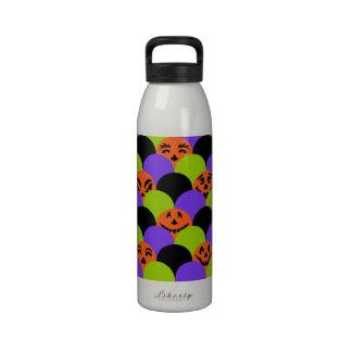 Black, Orange, Green & Purple Halloween Scales Drinking Bottle