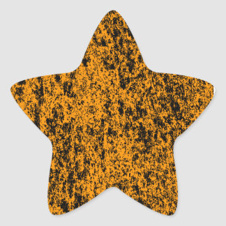 Black & Orange Marble Star Sticker